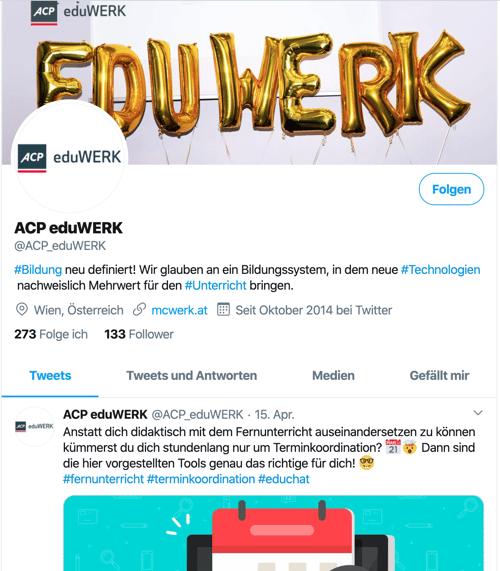 Twitter-Account von ACP eduWERK