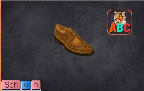 App ABC Tiger: kombiniert bewegliche Buchstaben des Alphabets mit der Farbcodierung  der Montessori Pädagogik