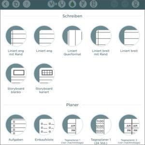 Vorlagen für Notizen mit dem EDU-iPad