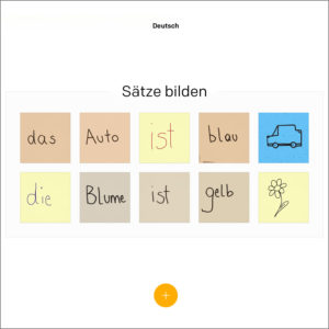 Post-it Plus im Deutsch-Unterricht am EDU-iPad