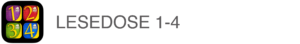 App Lesedose 1-4 Icon Text
