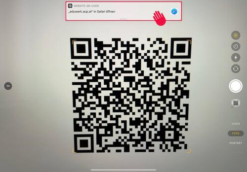 QR Code mit Kamera scannen-1