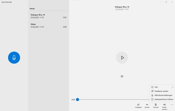 Sprachrekorder App