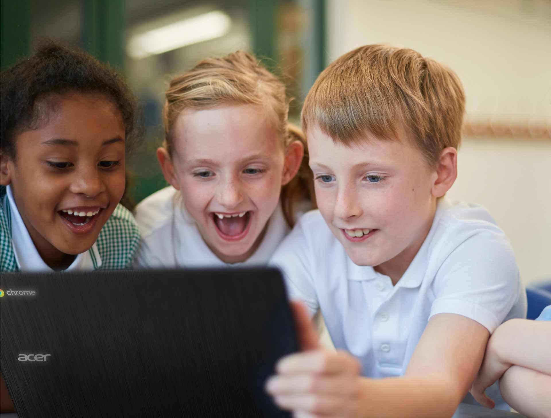 edu-Chromebook im Klassenzimmer