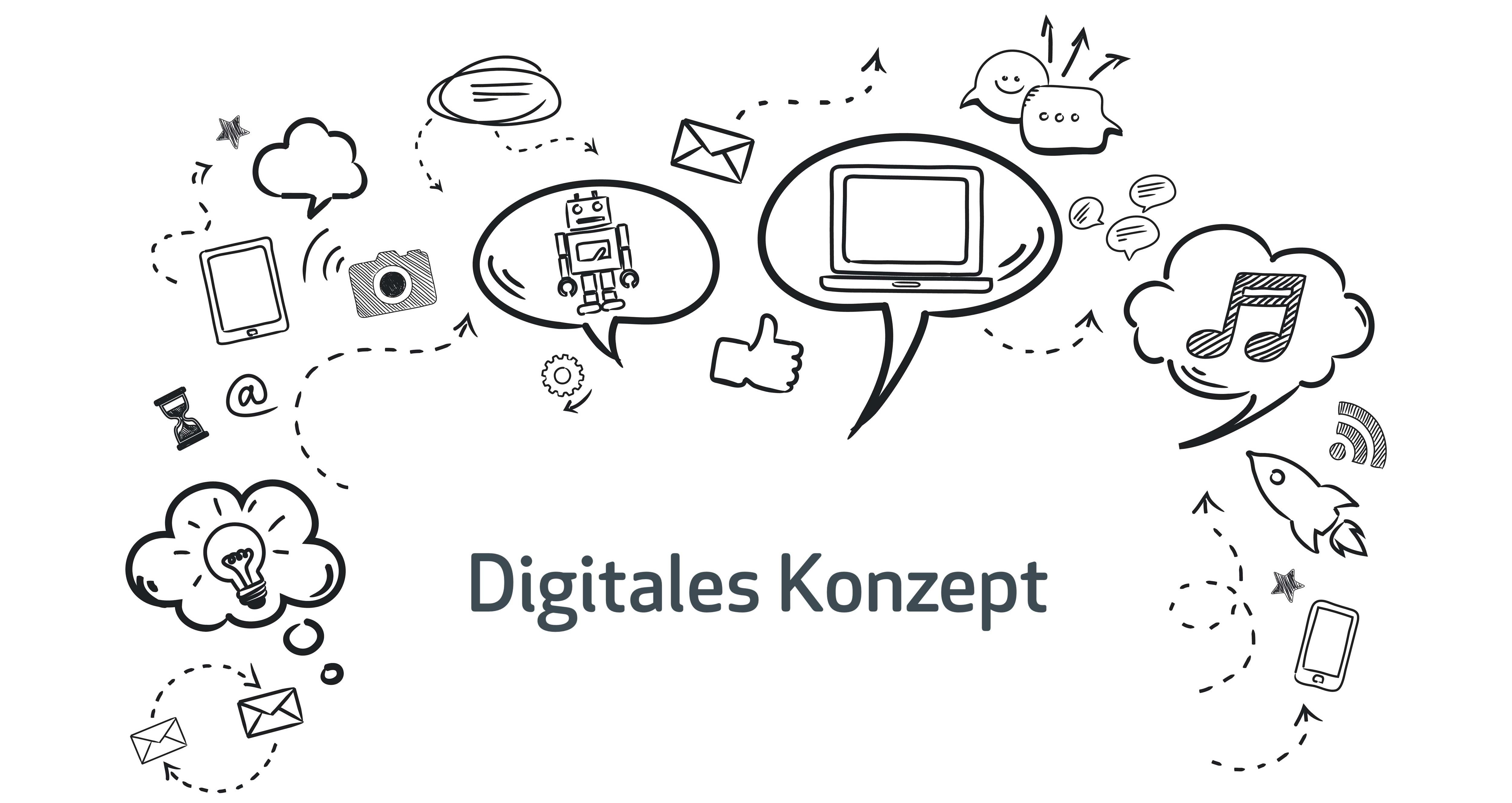Digitales Konzept